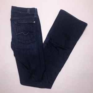 7FAM | Dark Wash Boot Cut Jeans size 27